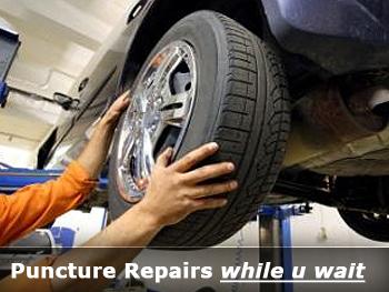 Puncture Repair at Goldenhill Garage