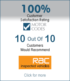 100% Customer satisfaction rating - Motorcodes - 10 out of 10 customers would recommend